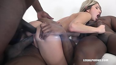 LegalPorno Trailer - Gina Gerson comes to try three black cocks IV131