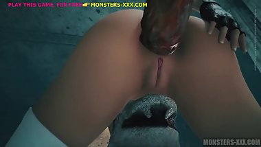 3D MONSTER FUCK WITH REDHEAD TEEN 3
