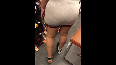 A day with the wife in see through grey dress