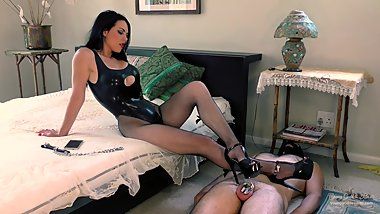 Mistress Chastity tease