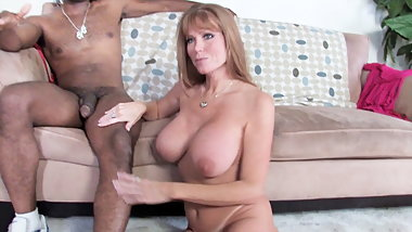 Busty Mom Darla Crane Takes BBC In Front Of  son