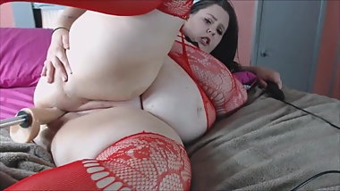 Bbw fucking machine
