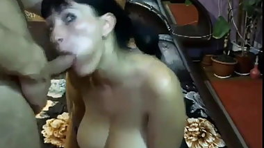 BigTits Mom BlowJob onWebCam ch1