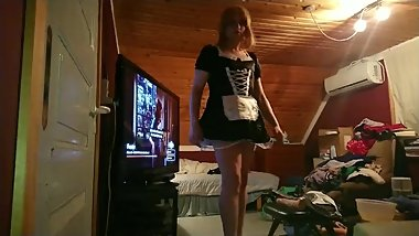 putting on my new maids uniform