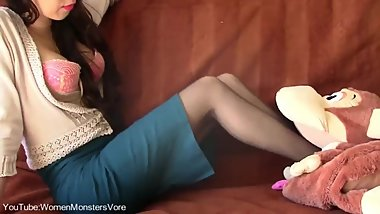 Anna Black Stocking Willing Toy Monkey Vore