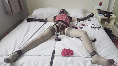 self bondage a sissy. want to good fuck