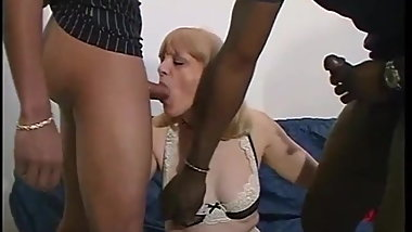 Incredible white ass hole dilated by a big black cock