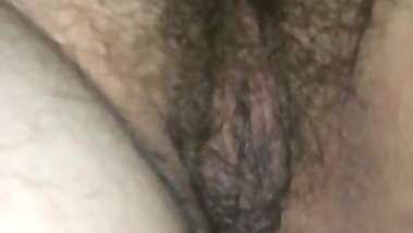 pussy wife at night after fucking