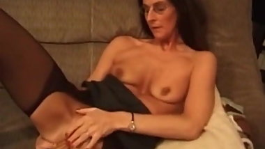 Check My MILF skanky granny in stockings playing with toy