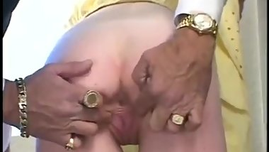 Uncle teaches niece to take his huge cock
