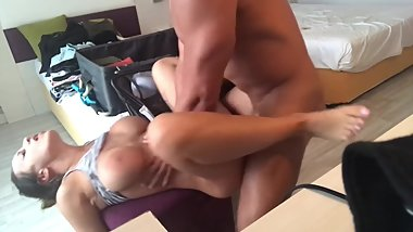 Dirty amateur girlfriend in a wild hotel fuck