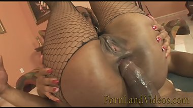 Dirty Black whore fucking DP with Huge Black Cocks