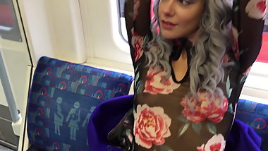 Daring Public Flashing on London Train