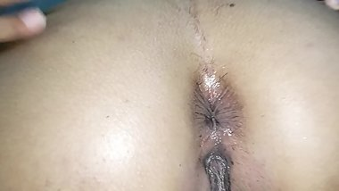 Shaving my slut wife´s hairy pussy and ass