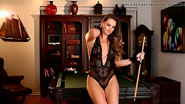 Tori Black masturbating on the pool table