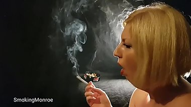 She died of lung cancer last year, she was a famous smoking fetish model