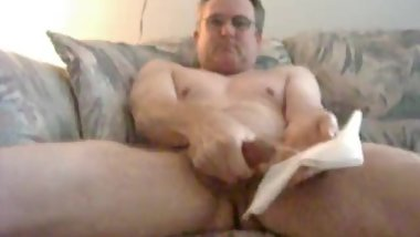 mature daddy jerking off for me