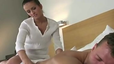 She gave me massage & hard fuck