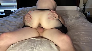 Bubble Butt Milf Riding Cock