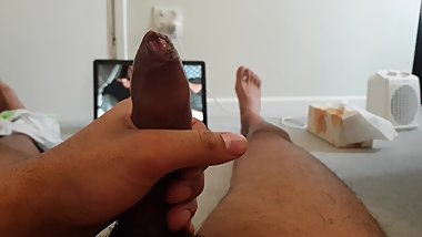24 year's old Uncircumcised Dick cumming on pornhub video