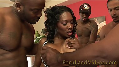 Hot Black Milf Cock sucker with Big Boobs
