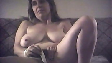 Huge Natural DD Tit Masturbates, Fucks and Sucks Cock