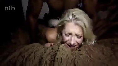 Blonde Interracial Wife Creampie