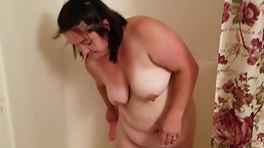 BBW Rides Dildo and gets a mouthfull