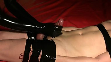 Bind Latex Gloves Handjob