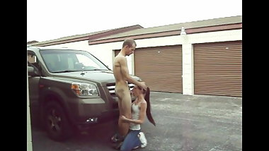 FUCKING HER FACE AND SUCKING MY DICK IN PUBLIC BLOWJOB CAR