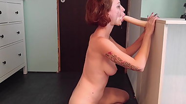 Deepthroating whore